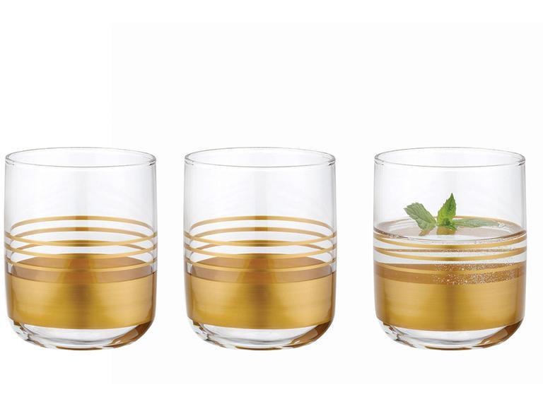 Golden Cam 3'lü Meşrubat Bardağı 270 Ml Gold