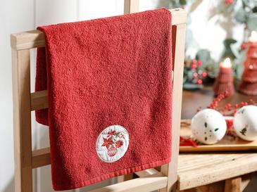Christmas Ball Nakışlı Paketli Hediyelik Havlu 40x60 Cm Kırmızı