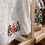 Christmas Tree Yd Nakışlı Kutulu Hediyelik Havlu 40x60 Cm Ekru