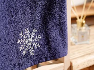 Snow Flake Yd Nakışlı Kutulu Hediyelik Havlu 40x60 Cm Lacivert