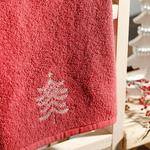 Winter Tree Yd Nakışlı Kutulu Hediyelik Havlu 40x60 Cm Kırmızı