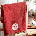 Christmas Ball Yd Nakışlı Kutulu Hediyelik Havlu 40x60 Cm Kırmızı