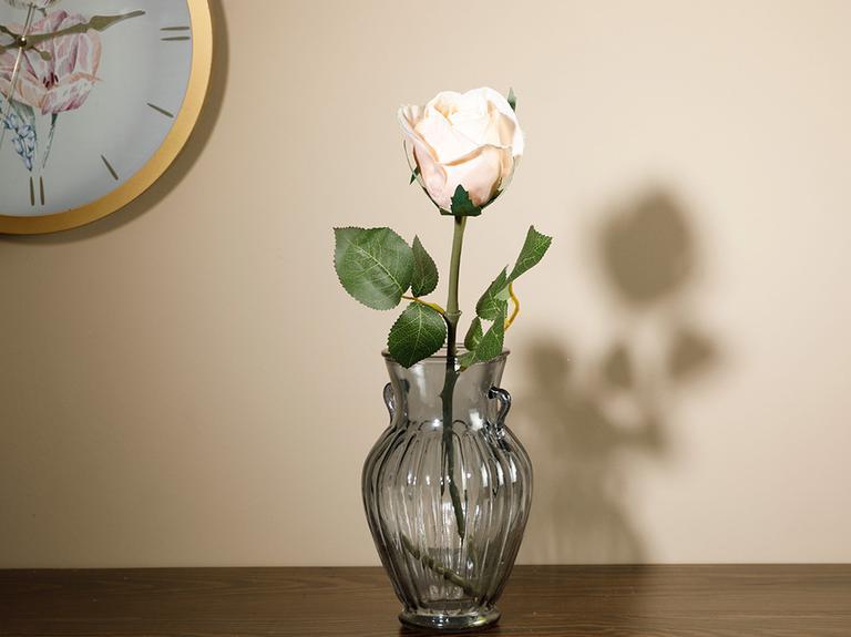 Dream Rose Tek Dal Yapay Çiçek 52 Cm Krem