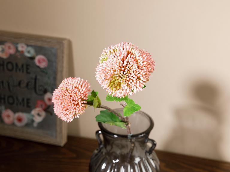 Flower Garden Tek Dal Yapay Çiçek 44 Cm Pudra