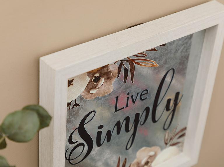Simple Life Mdf Tablo 24x24 Cm Gri