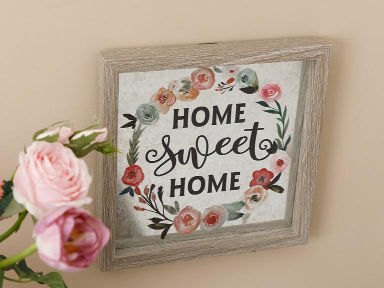 Lovely Home Mdf Tablo 24x24 Cm Gri