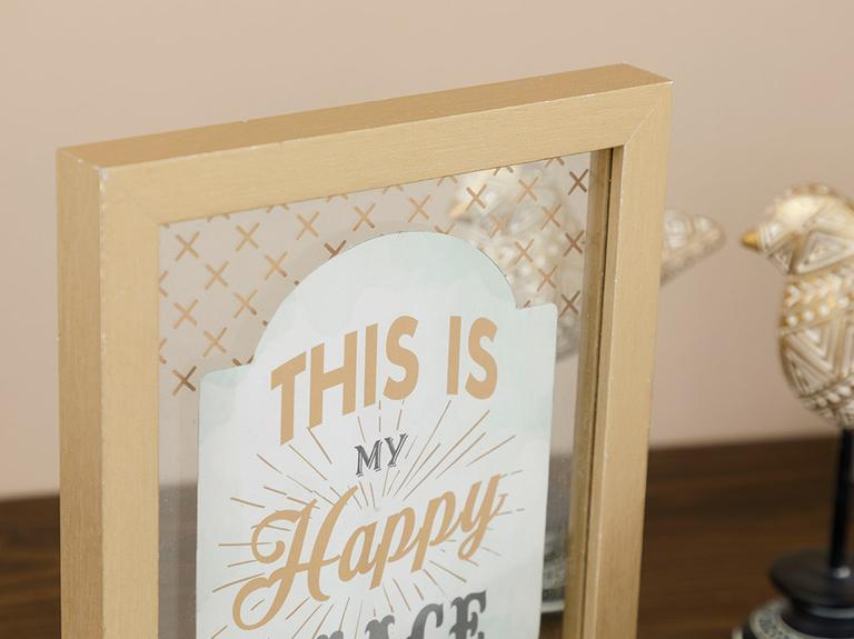 Happy Home Mdf Tablo 20x25 Cm Kahve