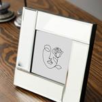 Mirror Stage Cam Aynalı Çerçeve 16x16 Cm Gümüş