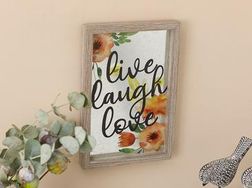 Live Laugh Love Mdf Tablo 20x30 Cm Gri