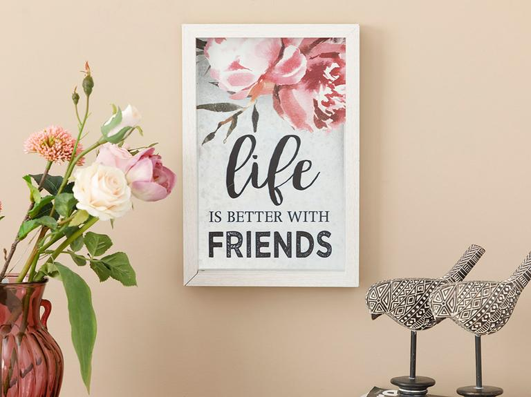 Happy Friends Mdf Tablo 20x30 Cm Gri
