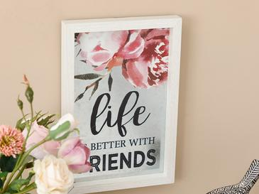Happy Friends Mdf Tablo 20x30 Cm Gri