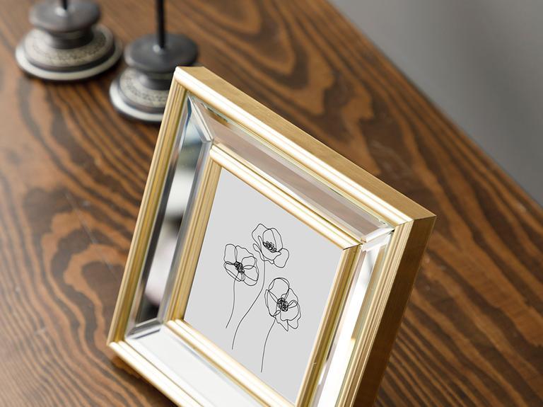 Shine Cam Aynalı Çerçeve 17x17 Cm Gümüş