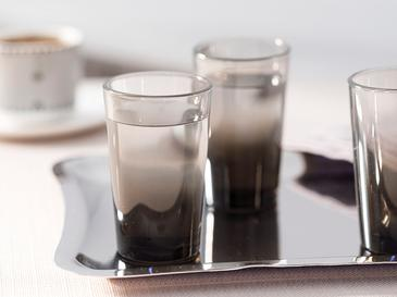 Denise Cam 6'lı Kahve Yanı Su Bardağı 100 Ml Siyah