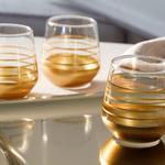 Golden Cam 6'lı Kahve Yanı Su Bardağı 115 Ml Gold
