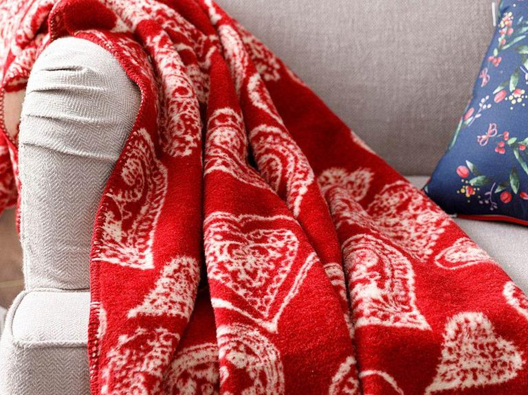 Lovers Akrilik Tv Battaniye 130x170 Cm Kırmızı