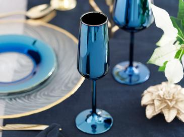 Jade Cam 2'li Şampanya Kadeh 195 Ml Mavi - Lacivert