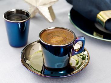 Jade Cam 4 Parça Kahve Fincan Takımı 80 Ml Mavi - Lacivert