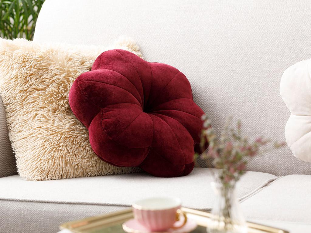 Perna Decorativa Floare 40x40Rosu 10029933001