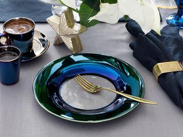 Jade Cam Pasta Tabağı 19 Cm Mavi - Lacivert