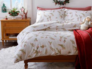 Under The Mistletoe Pamuk Çift Kişilik Nevresim Takımı 200x220 Cm Kırmızı