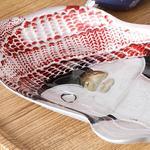 Penguin Cam Çerezlik 22 Cm Kırmızı - Beyaz