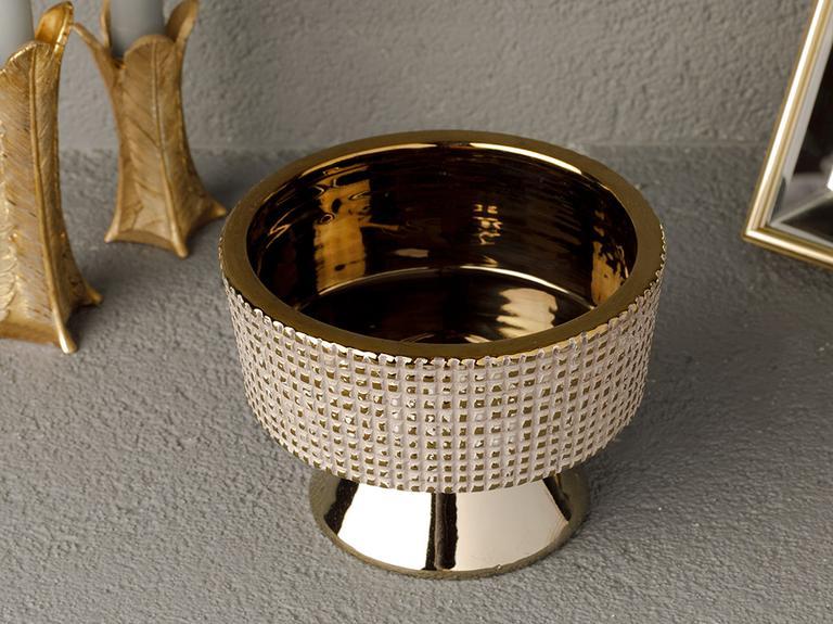 Ethel Stoneware Dekoratif Tabak 16x16x11 Cm Mor