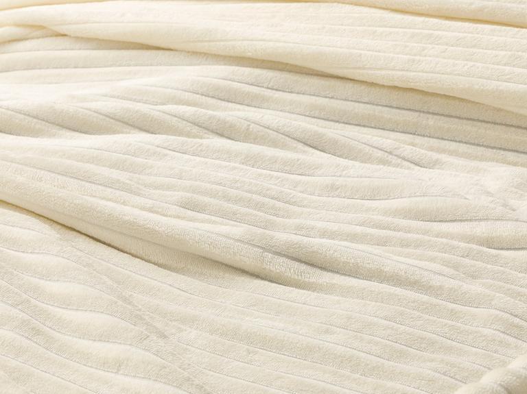 Plain Super Soft Çift Kişilik Battaniye 200x220 Cm Kırık Beyaz
