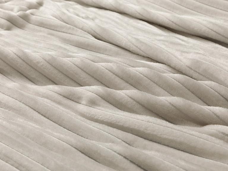 Plain Super Soft Tek Kişilik Battaniye 150x200 Cm Açık Gri