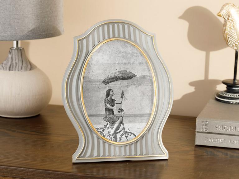 Royal Stripe Polyresin Çerçeve 19x24 Cm Gümüş