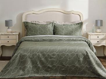 Wavy Bunch Jakarlı King Size Yatak Örtüsü Takımı 260x280 Cm Yeşil