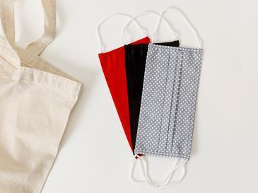 Dots Pamuk Maske 9,5x18 Cm Kırmızı-siyah