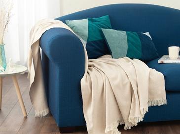 Linear Pamuk Polyester Koltuk Şalı 140x200 Cm Bej