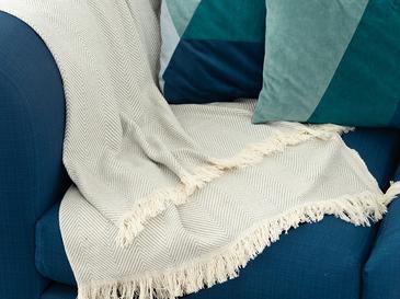 Linear Pamuk Polyester Koltuk Şalı 140x200 Cm Gri