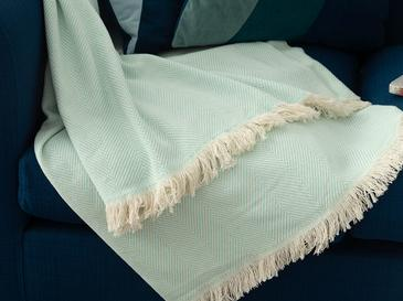 Linear Pamuk Polyester Koltuk Şalı 140x200 Cm Mint