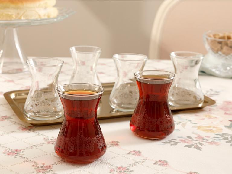 Pando Cam 6'lı Çay Bardağı 125 Ml Şeffaf