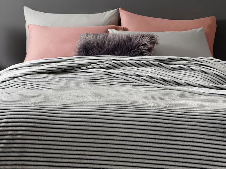 Fancy Plain Super Soft Çift Kişilik Battaniye 200x220 Cm Gri