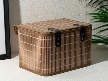 Hardwood Bambu Saklama Kutusu 28x20x18 Cm Kahve