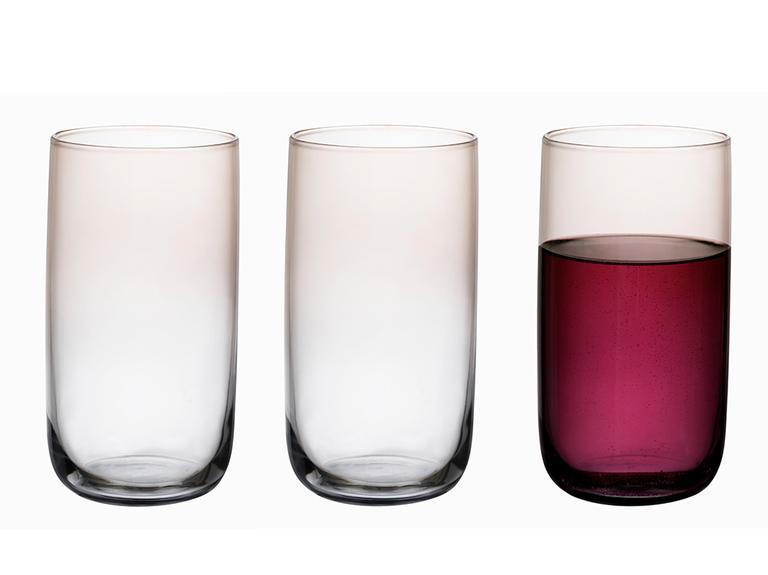 Denise Cam 3'lü Meşrubat Bardağı 365 Ml Gri