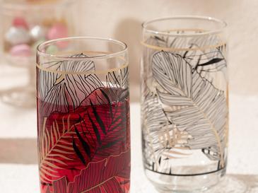 Maylin Cam 3'lü Meşrubat Bardağı 365 Ml Siyah