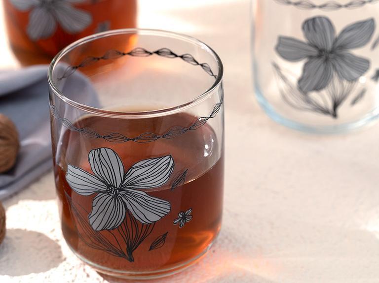 Denby Bright Cam 3'lü Meşrubat Bardağı 270 Ml Bej - Siyah