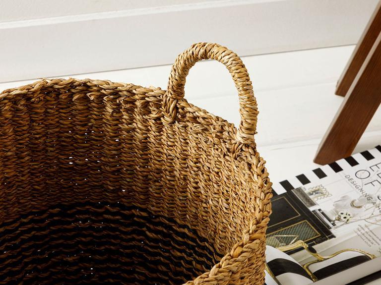 Natural Shape Hasır Sepet 35x35 Cm Kahve – Siyah