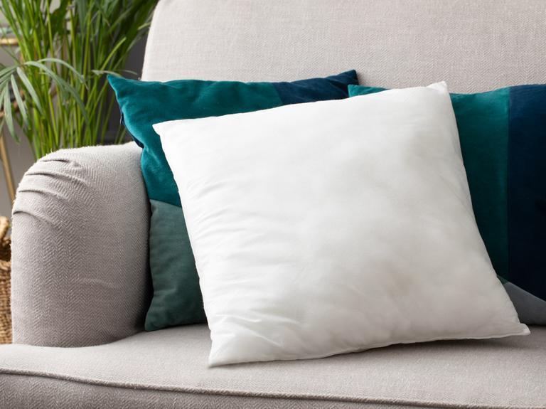 Silikonlu Kırlent Yastık 45X45 Cm Beyaz