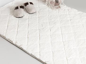 Rabbit Polyester Kaydırmaz Taban Post Halı 80x140 Cm Beyaz