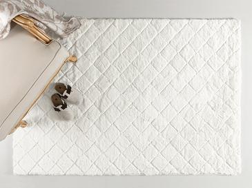 Rabbit Polyester Kaydırmaz Taban Post Halı 120x180 Cm Beyaz