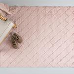 Rabbit Polyester Kaydırmaz Taban Post Halı 120x180 Cm Pudra