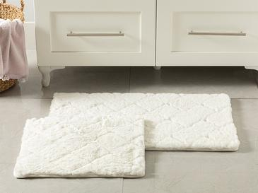 Rabbit Polyester Banyo Paspası Seti 50x80 - 45x50 Cm Beyaz