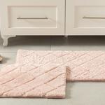 Rabbit Polyester Banyo Paspası Seti 50x80 - 45x50 Cm Pudra