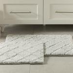 Rabbit Polyester Banyo Paspası Seti 50x80 - 45x50 Cm Açık Gri