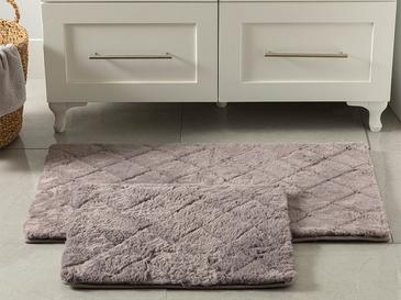 Rabbit Polyester Banyo Paspası Seti 60x100 - 50x60 Cm Koyu Mürdüm