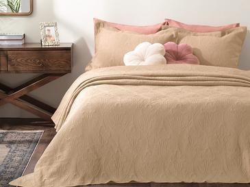 Grace Jakarlı Çift Kişilik Yatak Örtüsü Takımı 250x260 Cm Cappucino